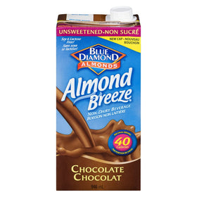 Blue Diamond Almond Breeze Beverage, Unsweetened Chocolate 946mL - COURYAH