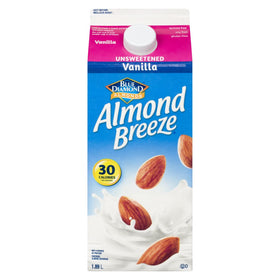 Blue Diamond Almond Breeze Beverage, Unsweetened Vanilla 1.89 L - COURYAH