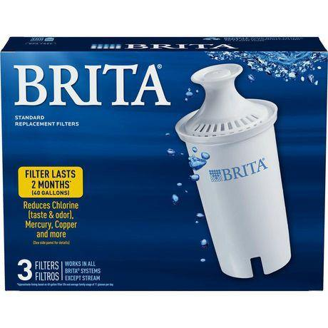 Brita Standard Water Replacement Filters, 3 Pack Brita Couryah