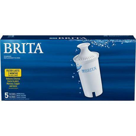 Brita Standard Water Replacement Filters, 5 Pack Brita Couryah