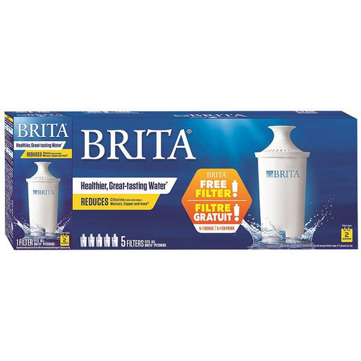 Brita Standard Water Replacement Filters, Bonus 5+1 Pack Brita Couryah