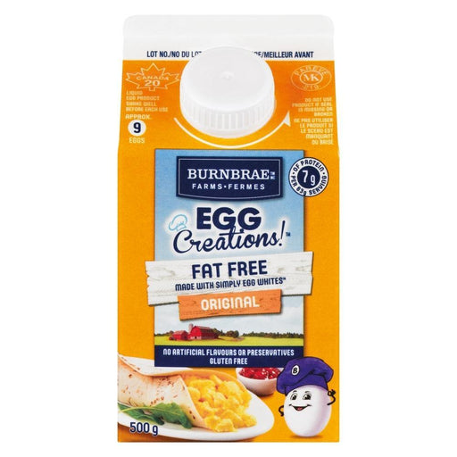 Egg Creations Original Fat Free Egg Whites 500 g Burnbrae Farms Couryah