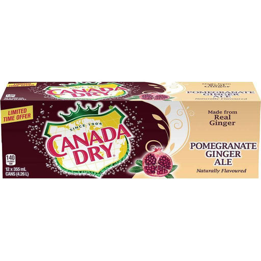 Canada Dry Pomegranate Ginger Ale Case (12 x 355 mL) Canada Dry Couryah