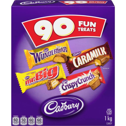 Caramilk Wunderbar Mr.Big & Crispy Crunch Snack Size Bars 90 Count 1 kg Caramilk Couryah