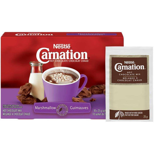 Carnation Marshmallow Hot Chocolate Mix (10 x 25 g)