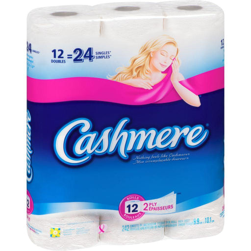 Cashmere Soft & Thick 2 Ply Toilet Paper, 12 Doubles = 24 Singles Rolls Cashmere Couryah