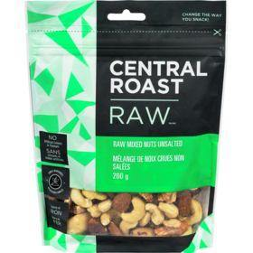 Central Roast Raw Unsalted Mixed Nuts 260 g Central Roast Couryah