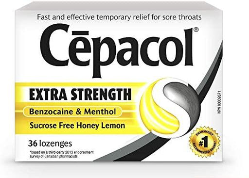 Cepacol Extra Strength Sucrose Free Honey Lemon 36 Lozenges Cepacol Couryah