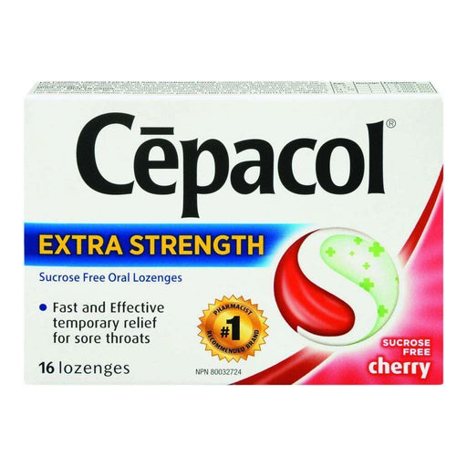 Cepacol Extra Strength Sucrose Free Cherry - 16 Each Cepacol Couryah