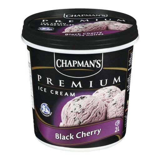 Chapman's Premium Ice Cream, Black Cherry 2 L Chapmans Couryah