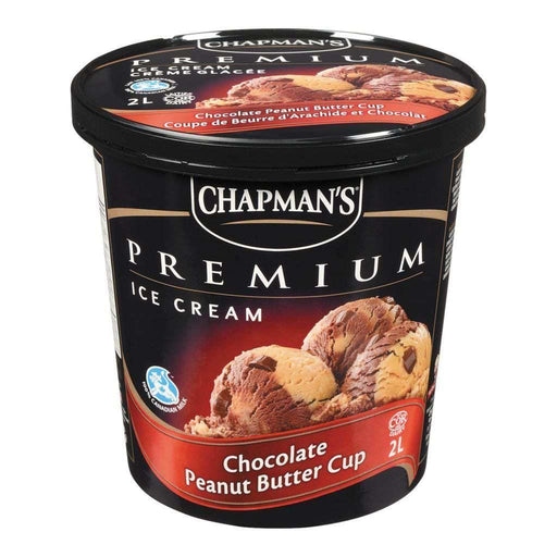Chapman's Premium Ice Cream, Chocolate Peanut Butter Cup 2 L Chapmans Couryah