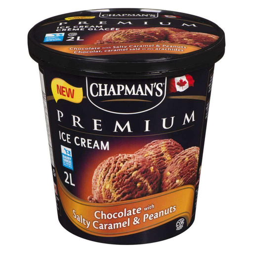 Chapman's Premium Ice Cream, Chocolate with Salty Caramel & Peanuts 2 L Chapmans Couryah