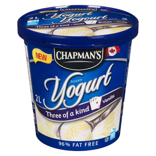 Chapman's Three of a kind Vanilla Frozen Yogurt 2 L Chapmans Couryah