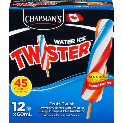 Chapman's Water Ice Fruit Twister (12x60mL) Chapmans Couryah