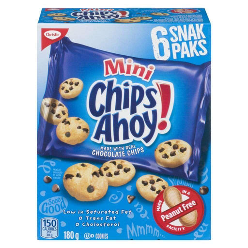 Chips Ahoy! Mini Chocolate Chip Cookies (6 Snak Paks) 180 g Christie Couryah