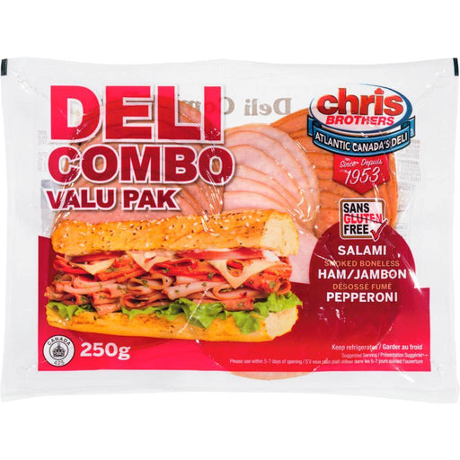Chris Brothers Deli Combo Value Pack (Salami, Ham, Pepperoni) 250 g Chris Brothers Couryah