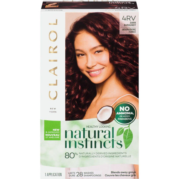 Clairol Natural Instincts 4RV Dark Burgundy