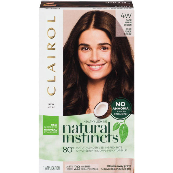 Clairol Natural Instincts 4W Dark Warm Brown