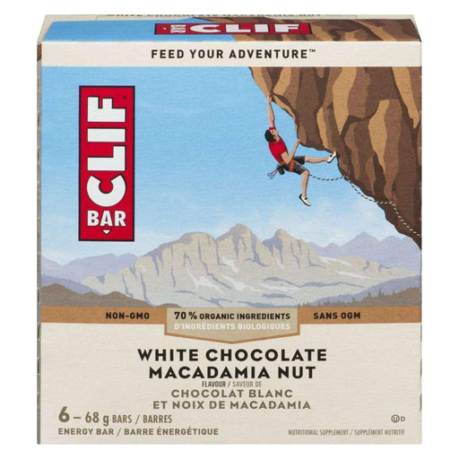 Clif White Chocolate Macadamia Energy Bars (6 x 68 g) Clif Couryah