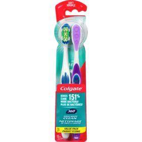 Colgate 360° Soft Toothbrush, 2 Pack Colgate Couryah