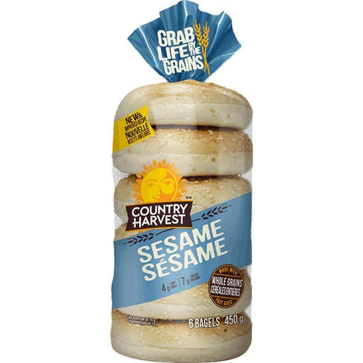 Country Harvest Sesame Bagels 450 g Country Harvest Couryah