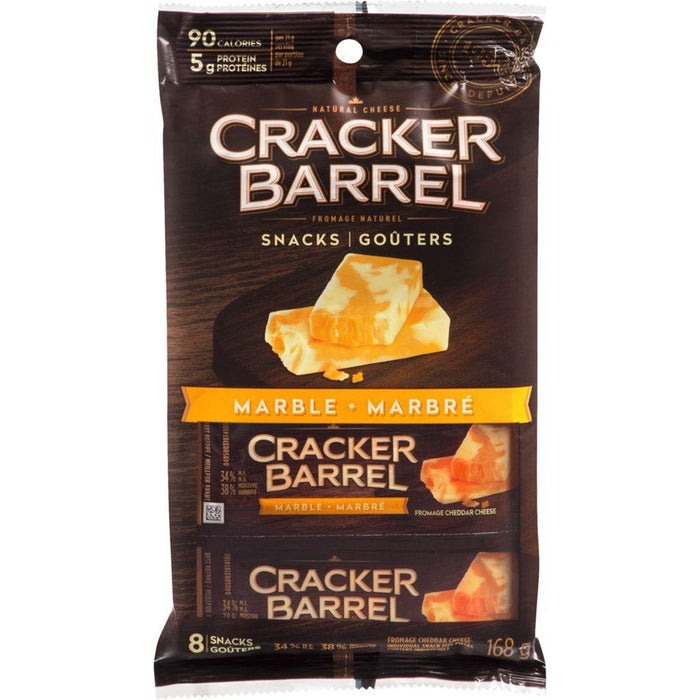 Cracker Barrel Cheese Snacks, Marble Cheddar (8 Snacks) 168 g Cracker Barrel Couryah