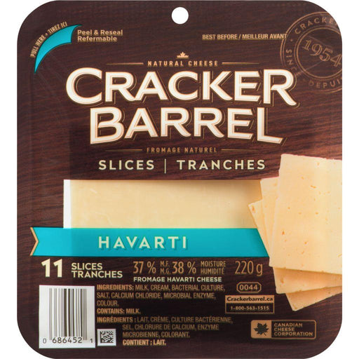 Cracker Barrel Havarti Cheese Slices (11 Slices) 220 g Cracker Barrel Couryah
