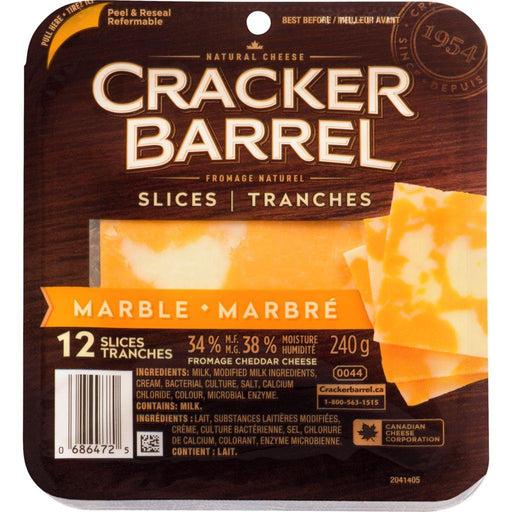 Cracker Barrel Marble Cheddar Cheese Slices (12 Slices) 240 g Cracker Barrel Couryah