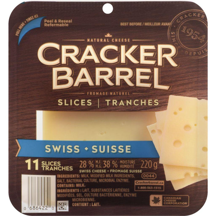 Cracker Barrel Swiss Cheese Slices (11 Slices) 220 g Cracker Barrel Couryah