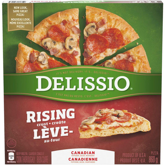 DELISSIO Rising Crust Canadian Pizza 860 g Delissio Couryah