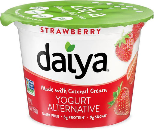 Daiya Deliciously Dairy-Free Strawberry Yogurt Alternative Made with Coconut Cream 150 g Daiya Couryah