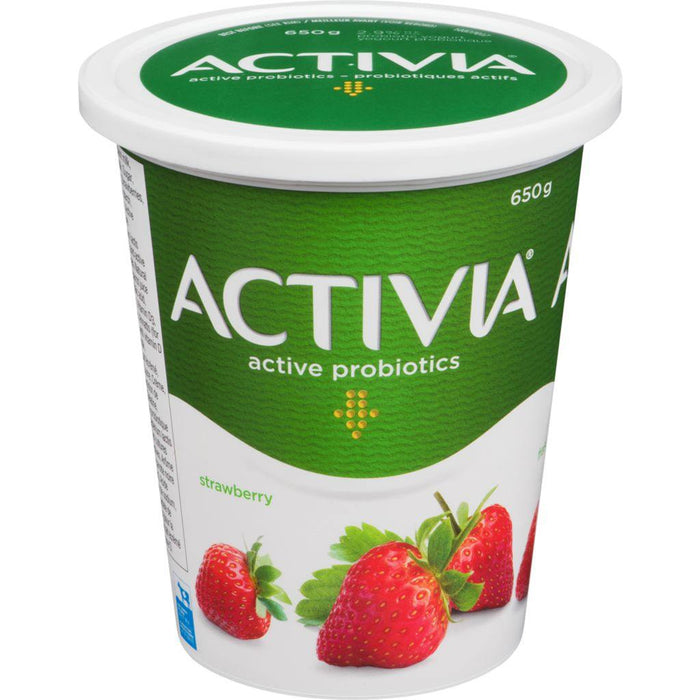 Danone Activia Yogurt with Probiotics, Strawberry 650 g Danone Couryah