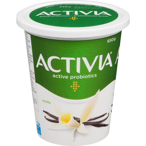 Danone Activia Yogurt with Probiotics, Vanilla 650 g Danone Couryah
