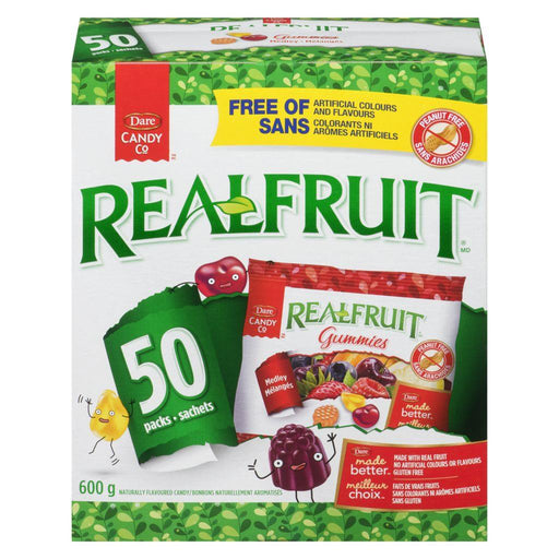 Dare Realfruit Snack Size Gummies 50 Count 600 g Dare Couryah