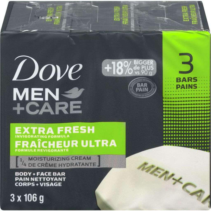 Dove Extra Fresh Body + Face Bars (3 x 106 g) Dove Couryah