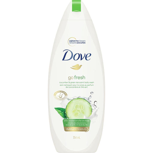Dove, Go Fresh Cucumber & Green Tea Scent Body Wash 354mL - COURYAH
