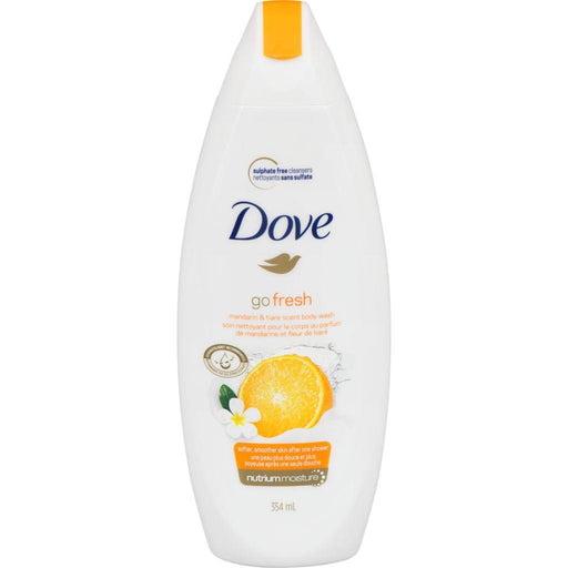 Dove, Go Fresh Mandarin & Tiare Scent Body Wash 354mL - COURYAH