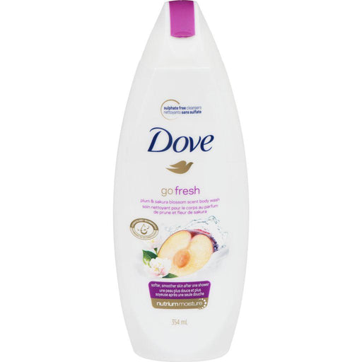 Dove, Go Fresh Plum & Sakura Blossom Scent Body Wash 354mL - COURYAH