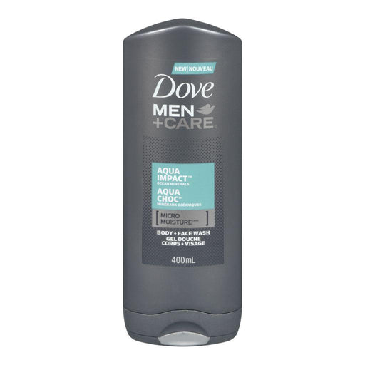 Dove, Men + Care Aqua Impact Face & Body Wash 400mL - COURYAH