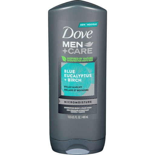 Dove, Men + Care Blue Eucalyptus and Birch Face & Body Wash 400mL - COURYAH
