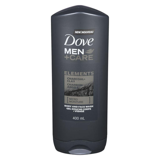 Dove, Men + Care Charcoal and Clay Face & Body Wash 400mL - COURYAH