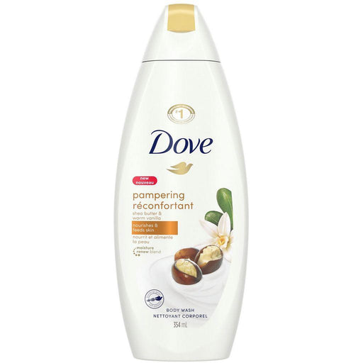 Dove, Pampering Shea Butter & Warm Vanilla Body Wash 354mL - COURYAH