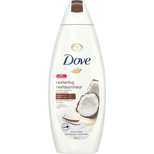 Dove, Restoring Coconut Butter & Cocoa Butter Body Wash 354mL - COURYAH