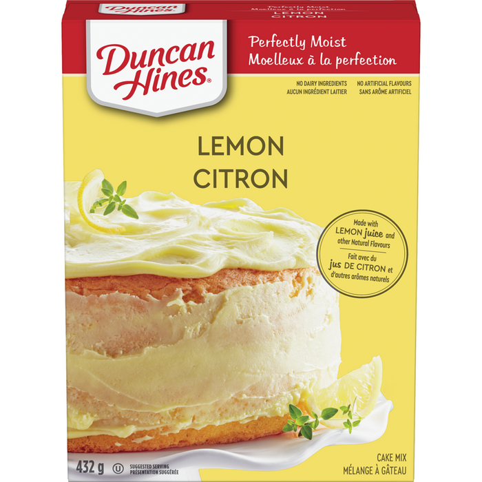 Duncan Hines Perfectly Moist Cake Mix, Lemon 432g