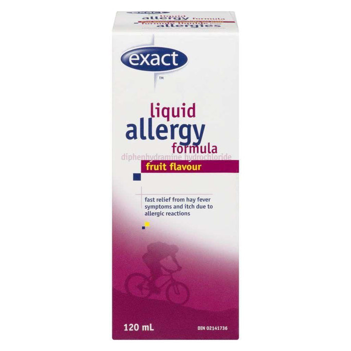 Exact Allergy Liquid - Fruit Flavour 120mL Exact Couryah