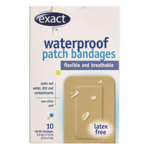 Exact Waterproof Patch - Bandages 10 Each Exact Couryah
