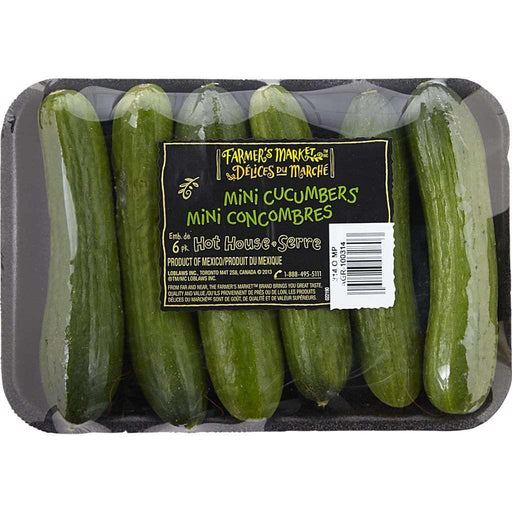 FARMER'S MARKET Mini Cucumbers (6 Pack) Farmer's Market Couryah