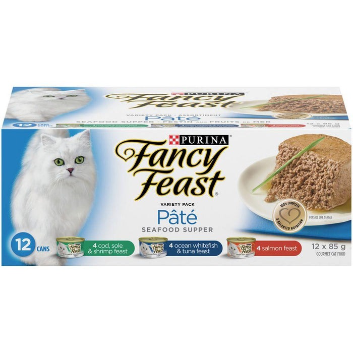 Fancy Feast Seafood Supper Variety Pack Wet Cat Food (12 x 85 g) Purina Couryah