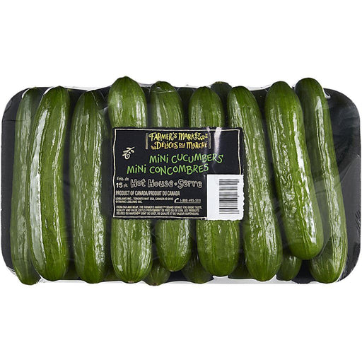 Farmer's Market Mini Cucumbers (15 Pack) Farmer's Market Couryah