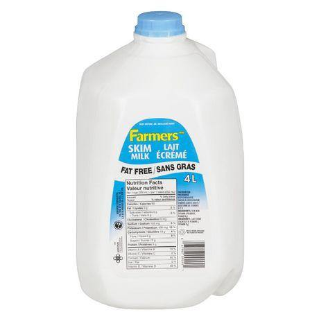 Farmers Skim Fat Free Milk 4 L Farmers Couryah